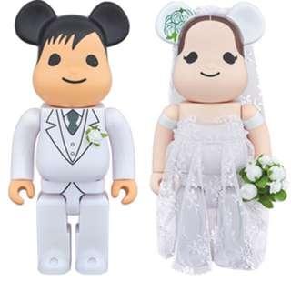 Reserved Bearbrick Wedding Set 2 400%