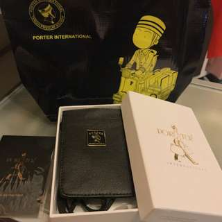 Porter 迷幻復古 MORI系列  掛繩證件套 (黑)