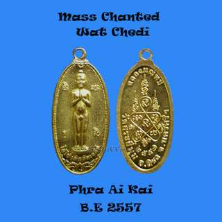 Thai Amulet - Mass Chanted Wat Chedi Phra Ai Kai B.E 2557