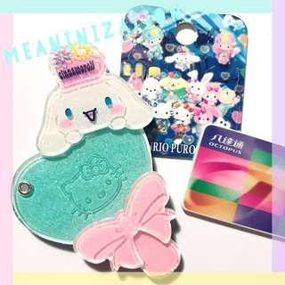 // 手作八達通💫 // Sanrio Hello Kitty/My Melody/Kurumi/Piano/Twin Star/布甸狗 Pom Pom Purin/玉桂狗 Cinnamoroll/PC狗/XO/馬騮/青蛙 Keroppi 人物迷你八達通