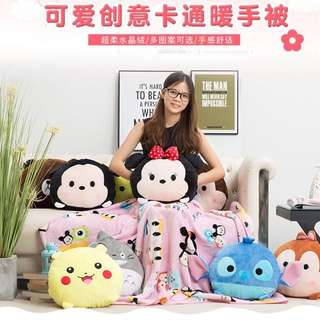 Disney Tsum Tsum Blanket Cum Pillows