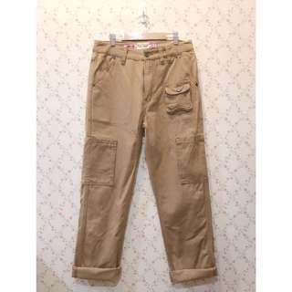 日本帶回工裝卡其古著直筒褲