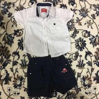 miki padini baby shirt set