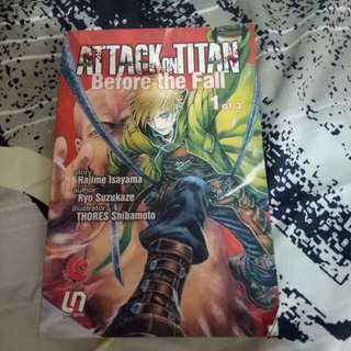 Novel Attack on Titan Before the Fall Vol.1