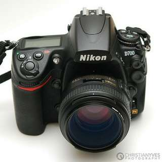 Nikon D700 with 50mm f1.4 for rental