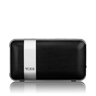 Tumi 114301DSLV Wireless Rechargeable Bluetooth Portable Conference Mic Speaker With Powerbank *NEW*
