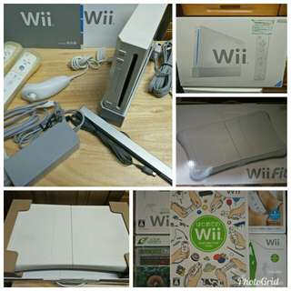Wii + Wii Fitness Pad(package)