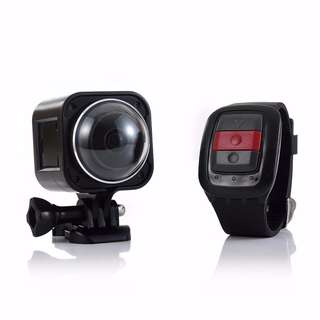 4K Waterproof Mini Outdoor Sports Action Camera 360 Wide-Angle Video Cam with Remote Controller VR Camera  WiFi