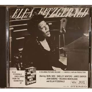 US Press 24K Gold DCC CD Ella Fitzgerald Let No Man Write My Epitaph VERY RARE