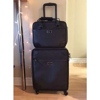 Authentic Kate Spade black travel luggage bag set