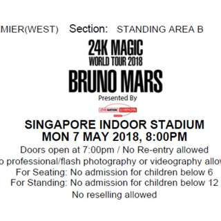 7 May Bruno Mars Concert Tickets