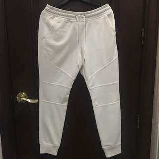 H&M Divided White Joggers