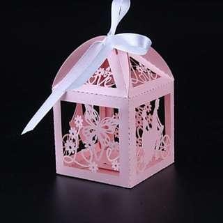 EB18037 LASER CUT BRIDE & GROOM FAVOR BOX