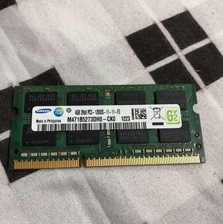 Samsung DDR3 4GB SODIMM RAM