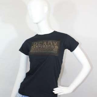 Embossed Basic T-shirt in Black