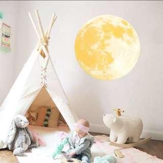 Waterproof Moon Home Deco Sticker