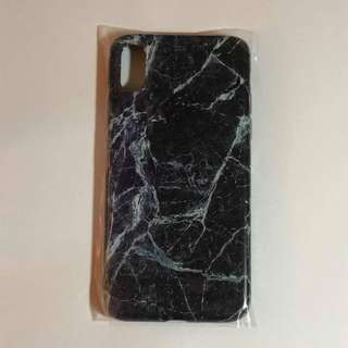 Iphone X Black Marble Case