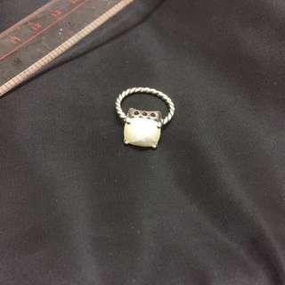 13圈口 pandora ring 貝殼銀戒指