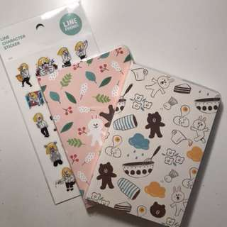 Line Friends Stationary - PRICE DROP