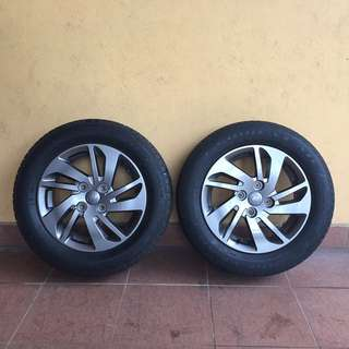 [Nego] Standard Rim & Tyre for Perodua Myvi (2 piece only)