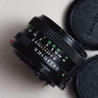 lensa canon fd n 50mm f1.8 mulus bersih tajam
