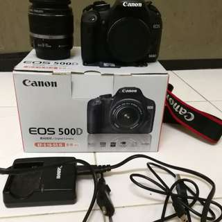 Canon EOS 500D with 18-55mm is