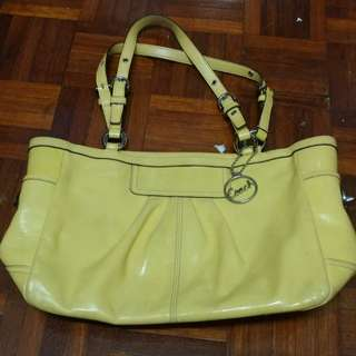 Coach Yellow Patent Leather East West