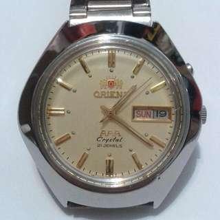 ORIENT AAA Automatic watch  bezel 37mm 21 jewels Crystal Glass
