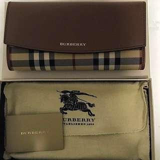 Burberry Long Wallet Tan