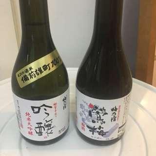 梅乃宿日本清酒及梅酒各一支