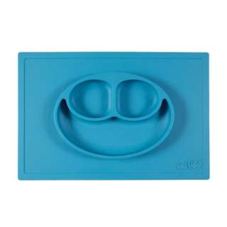 Brand New ezpz Happy Mat - One-Piece Silicone Placemat + Plate