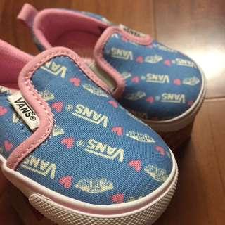 Vans粉藍愛心13.5公分