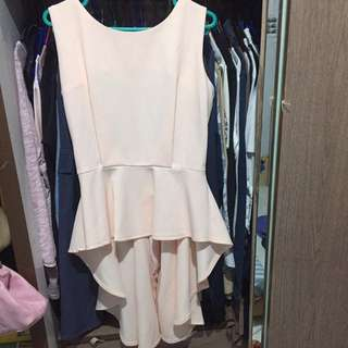 Peach Top Semi Dress