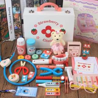 (Reserved) BN Wooden Strawberry Clinic Doctor & Dentist Magnetic Toys Set