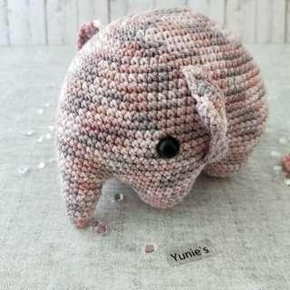 Elephant amigurumi, Stuffed toy elephant,Elephant Crochet amigurumi,