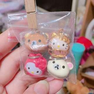 拉拉熊kitty小鈴鐺吊飾