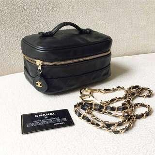 AUTHENTIC CHANEL Vanity Case / Sling Crossbody Bag