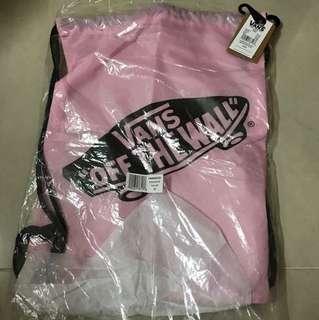 全新vans粉紅色索索袋
