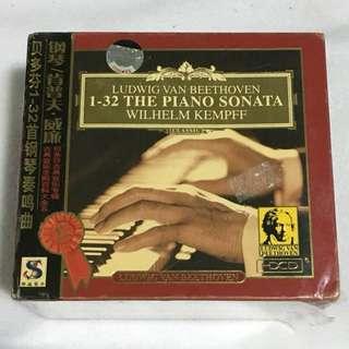 8CD•30% OFF GREAT CNY SALE {DVD, VCD & CD} 钢琴/肯普夫•威廉 贝多芬1-32首钢琴奏鸣曲 1ST PLACE LUDWIG VAN BEETHOVEN 1-32 THE PIANO SONATA WILHELM KEMPFF - 8CD片装