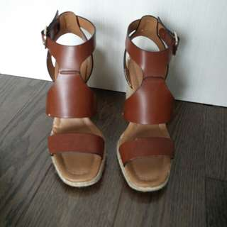Brown Zara Wedges