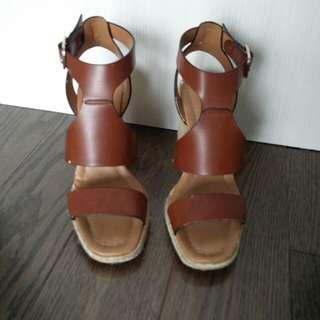 Brown Zara Wedges