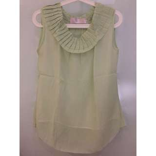 J.rep Pleated Neck Sleeveless Top