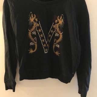 scotch&soda embroidered sweatshirt