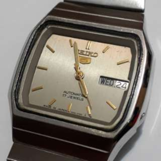 SEIKO 5 Automatic watch bezel 35mm Crystal Glass 7009-2490 made in Japan