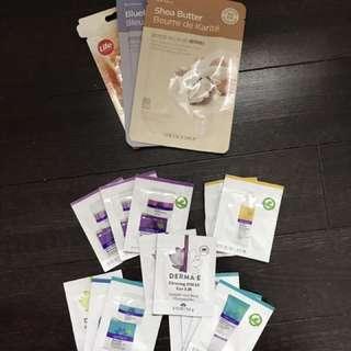 Face masks + creme (sample size)