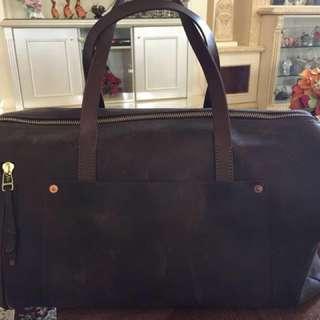 Vintage Fossil Duffle / Travel Bag