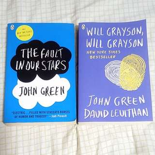 John Green books - The Fault in Our Stars and Will Grayson, Will Grayson