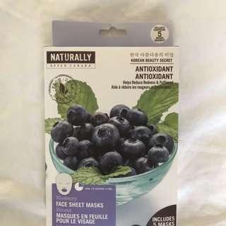 Blueberry Face Masks (The Face Shop)