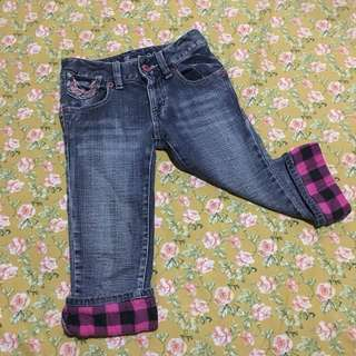 Jeans 3/4 spandex 8-9 yrs