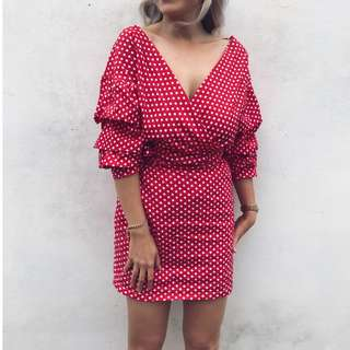 Spotty Wrap Dress size S